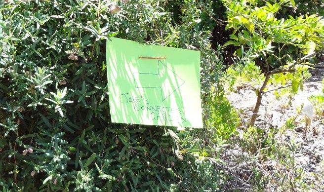 Joe's Connected Garden sign
