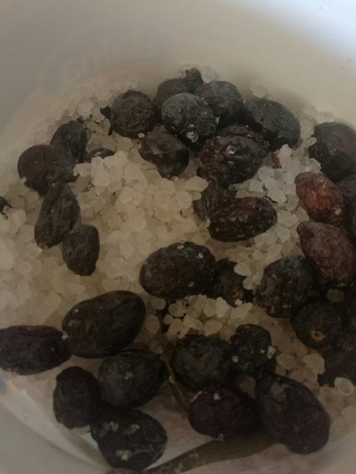 Olives in salt