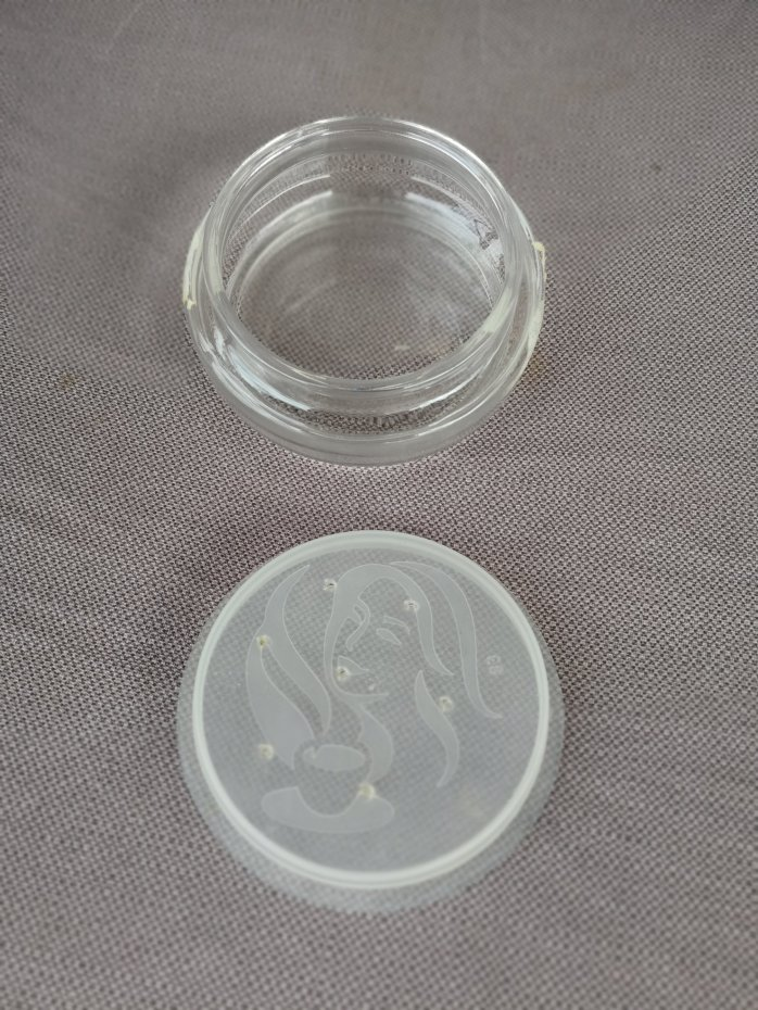 The lids are hollow and have a plastic seal