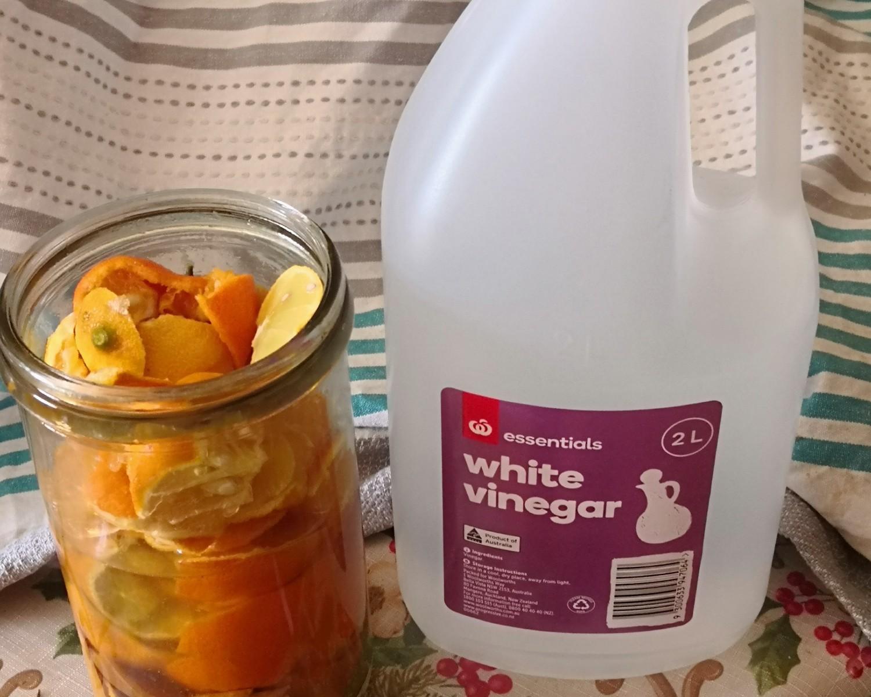 Citrus and vinegar cleaner