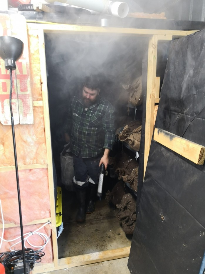 The man himself in his mushroom dungeon