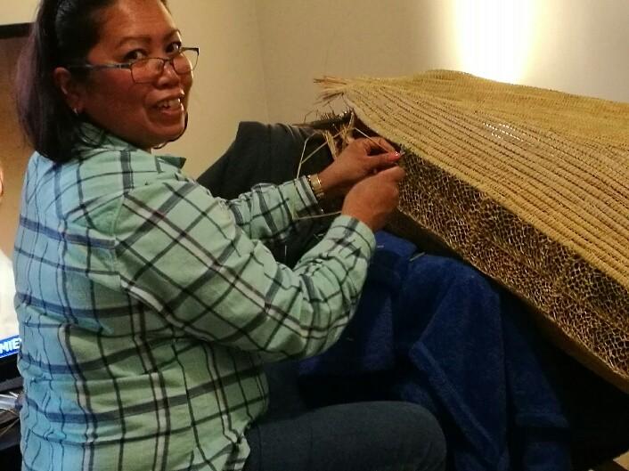 Jelina is happiest when weaving