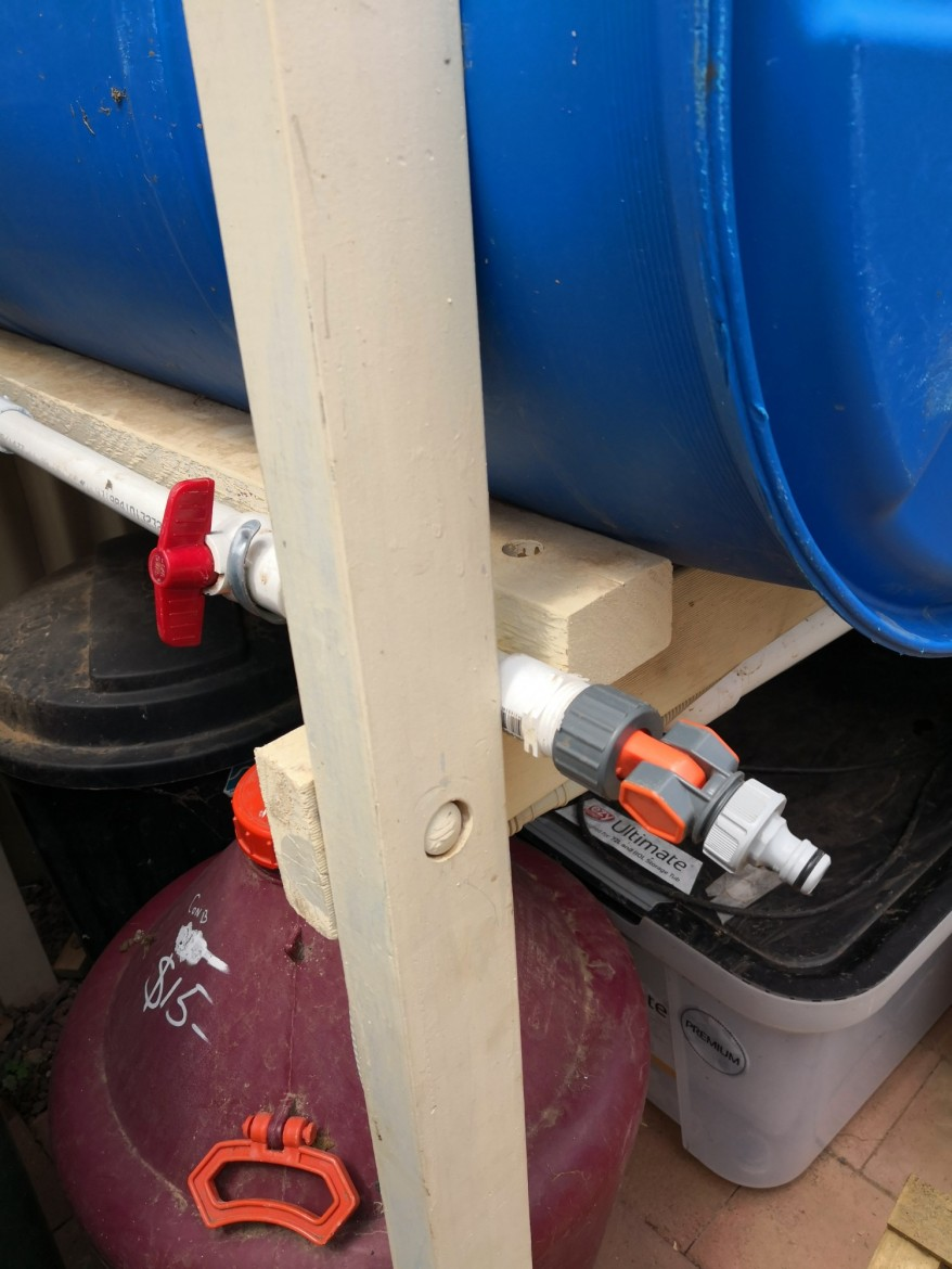 New tap for pumped rainwater