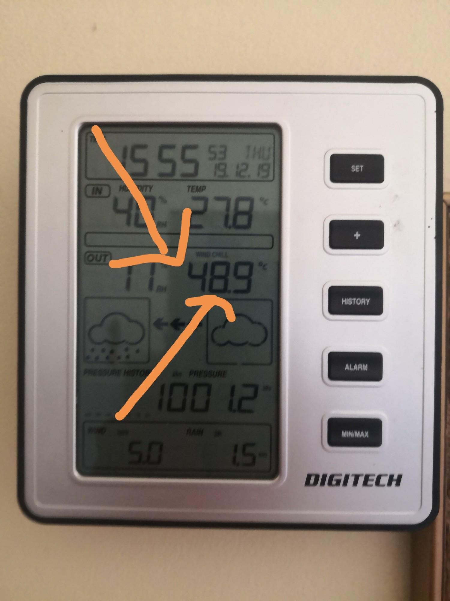 Crazy temperatures in Summer