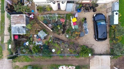 Ligaya Garden front yard June 2020 drone shot