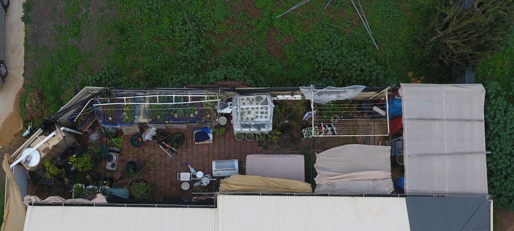 Ligaya Garden back yard June 2020 drone shot
