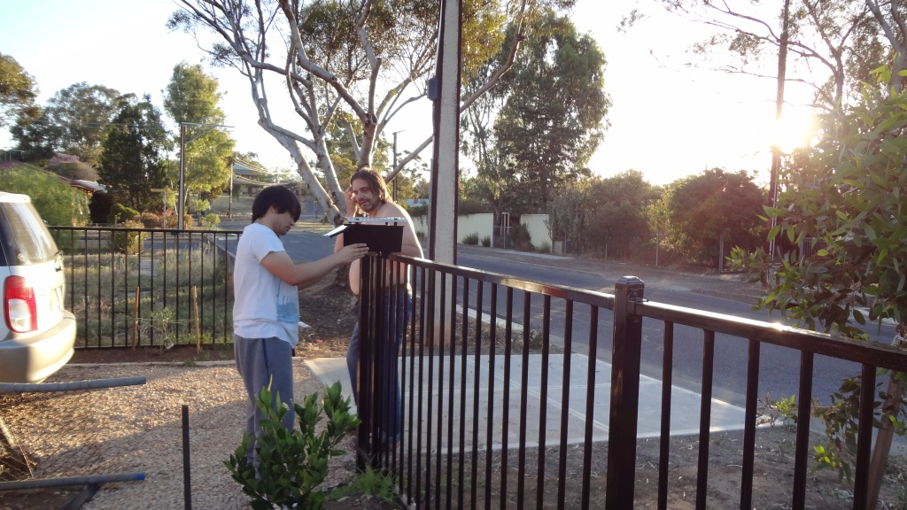 Contractors put in the fence but we put on the letterbox!